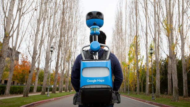 Official Google Street View camera backpack