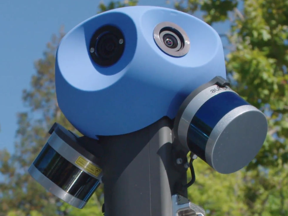 Google Street View LIDAR scanners from Velodyn