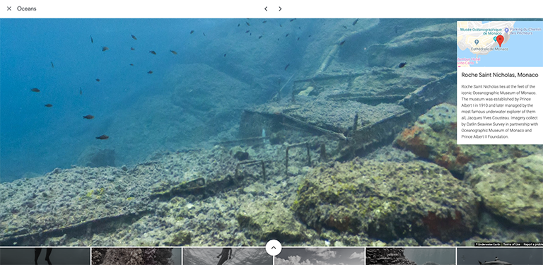 Google Street View underwater
