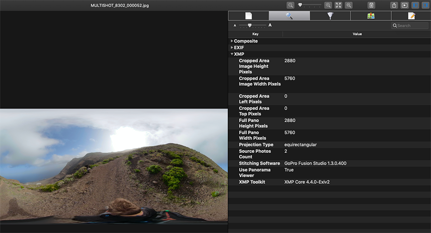 A deeper look into a 360 photo and the metadata it holds