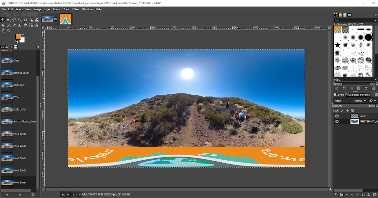 Adding a Custom Nadir to a 360 Photo or Video